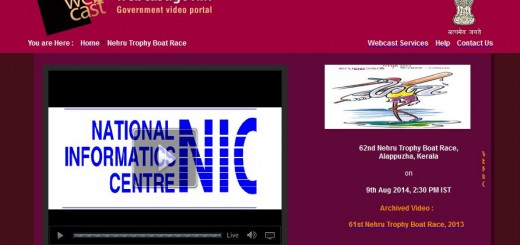 Nehru Trophy Boat Race 2014 Live Webcast