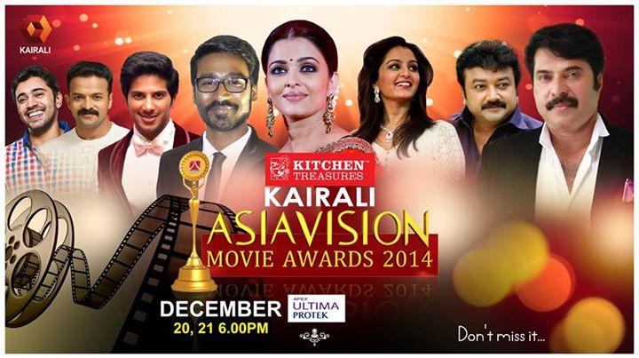Asiavision Movie Awards 2014 Telecast On Kairali TV