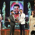 Prithviraj and Vikram at Asianet Film Awards 2016