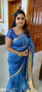 serial actress sreepadma in saree