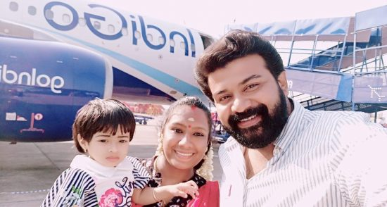 serial actor shankardas with his family