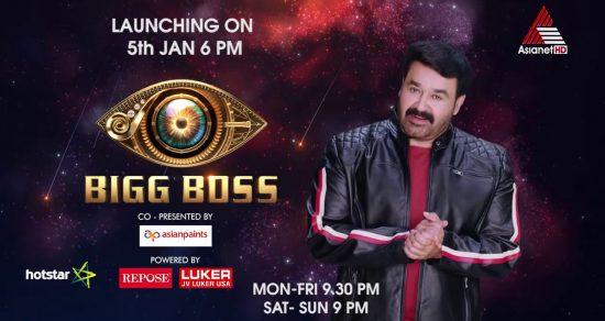 asianet reality show bigg boss malayalam 2