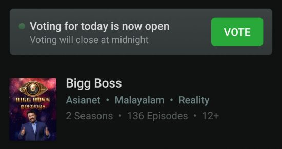 bigg boss 2 malayalam official website vote