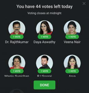 bigg boss malayalam voting via hotstar app