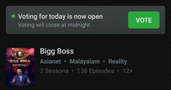bigg boss malayalam vote this week